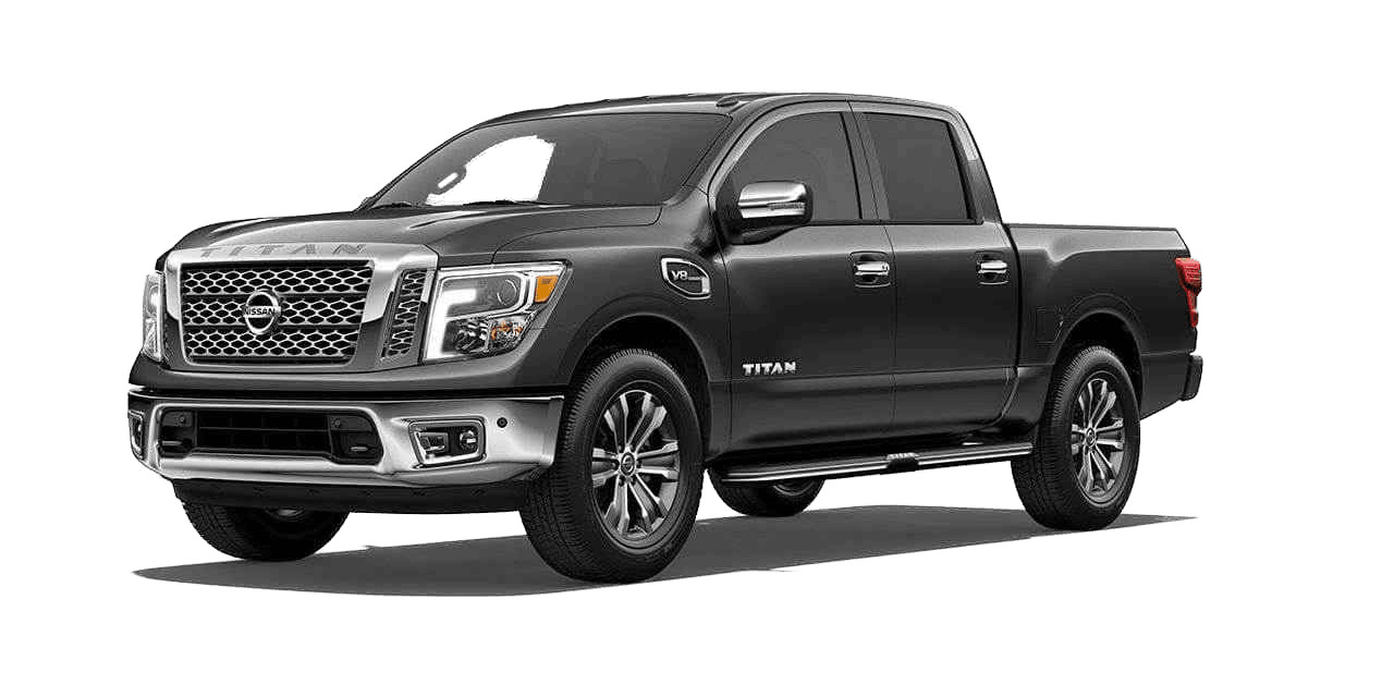 A dark gray Nissan Titan