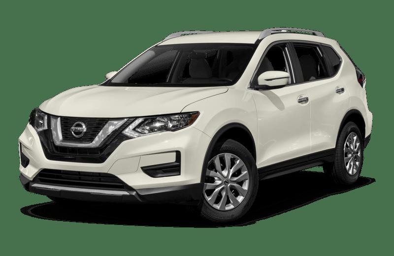 A white Nissan Rogue
